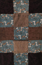 Load image into Gallery viewer, Machu Picchu Out N About Patchwork on Luxe Cuddle Marble Chocolate