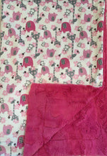 Load image into Gallery viewer, Jungle Dreams in Fuschia on Luxe Cuddle Carnation Hide