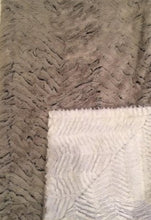 Load image into Gallery viewer, Luxe Cuddle Frosted Zebra in Gray on Luxe Cuddle Ziggy in Snow