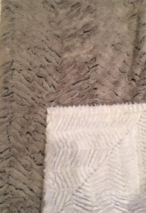 Luxe Cuddle Frosted Zebra in Gray on Luxe Cuddle Ziggy in Snow