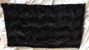 Pillowcase with Spot Leopard in Black on Caviar Hide