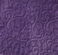 Luxe Cuddle Embossed Vine in Violet
