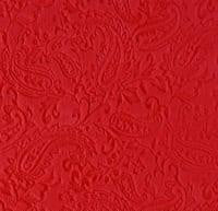 Luxe Cuddle Embossed Paisley in Red