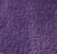 Load image into Gallery viewer, Strip Style Blanket: Embossed Vine in Violet Strip on Alpha Sheep in Stone