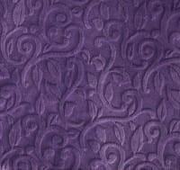 Strip Style Blanket: Embossed Vine in Violet Strip on Alpha Sheep in Stone