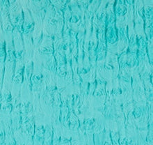 Load image into Gallery viewer, Michael Miller Mudcloth Sade Teal on Luxe Cuddle Luna in Aruba