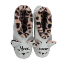 Load image into Gallery viewer, Faceplant Footsies - Meeeeoww (Grey/Leopard)