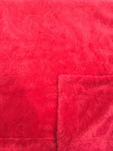 Embossed Red Paisley on Embossed Red Paisley