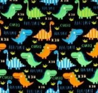 Polar Fleece Bright Dinosaurs