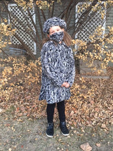 Load image into Gallery viewer, Girls Minky Coat: Spot Leopard Outerwear Set (Includes Coat, Hat, and Fashion Mask)