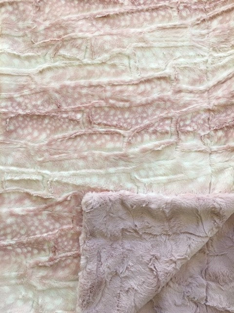 Luxe Cuddle Fawn in Rosewater on Luxe Cuddle Hide in Rosewater
