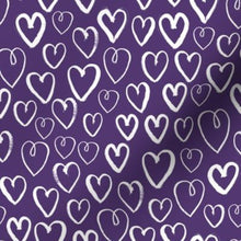Load image into Gallery viewer, Spoonflower Deep Purple Hearts