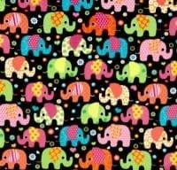 Fleece and Minky Blanket: Winter Fleece Elephants on Luxe Cuddle Dimple Dot in Lime