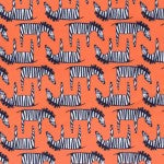 Zig Zag Zebra in Orange
