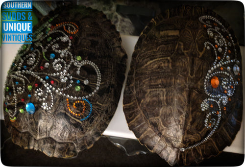 Jeweled River Turtle Shell - Southern Sudds & Unique Vintiques Online Boutique