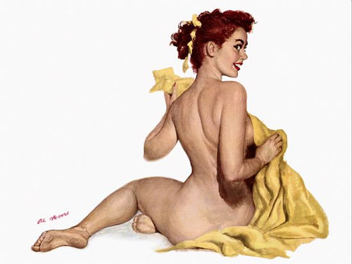 Pinup Poster Redhead With A Towel - Southern Sudds & Unique Vintiques Online Boutique