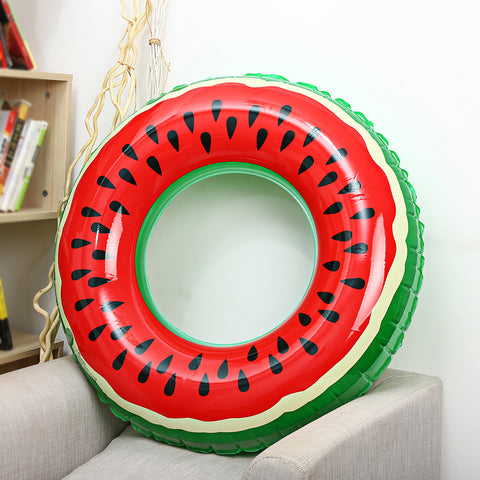Outlife Watermelon Inflatable Adult Kids Swimming Ring Inflatable Pool Float Circle for Adult Children