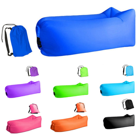 Light sleeping bag Waterproof Inflatable bag lazy sofa air camping Sleeping bags Adult Beach Lounge Chair Fast Folding