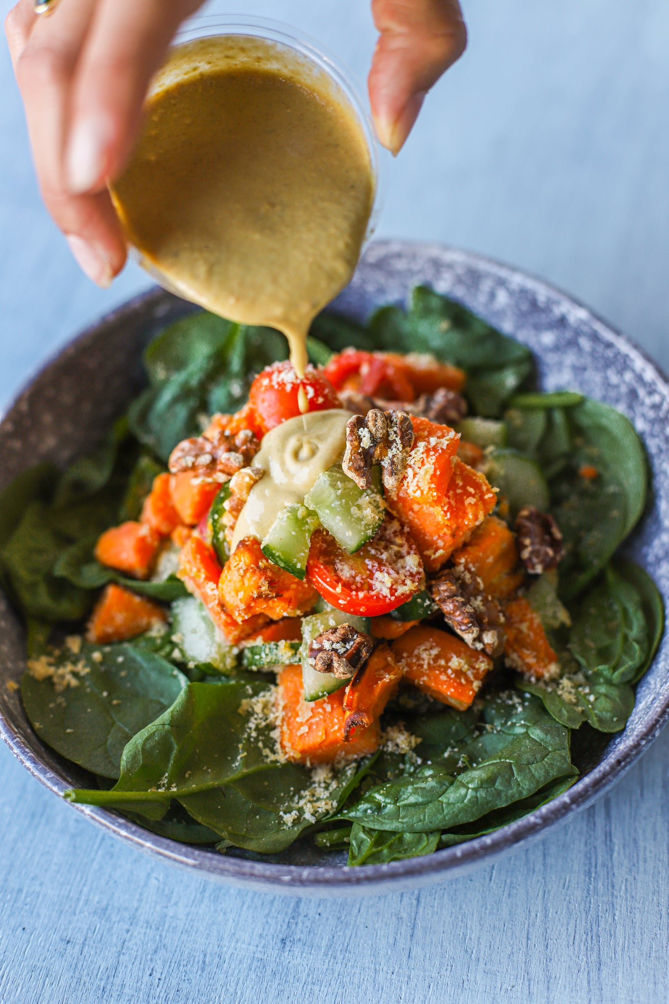 SWEET POTATO CAESAR SALADE