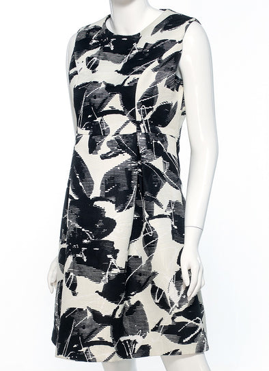 Flora Black - White Dress with Cropped Jacket - Bryla J Couture
