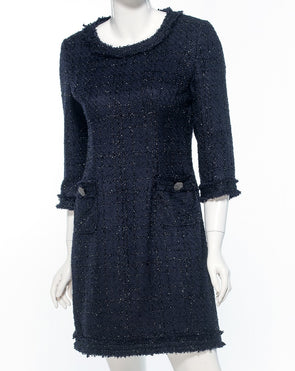 Jackie O. Shimmer Blue Dress - Bryla J Couture