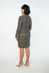 Gloria Trimmed Woven Skirt Suit - Bryla J Couture