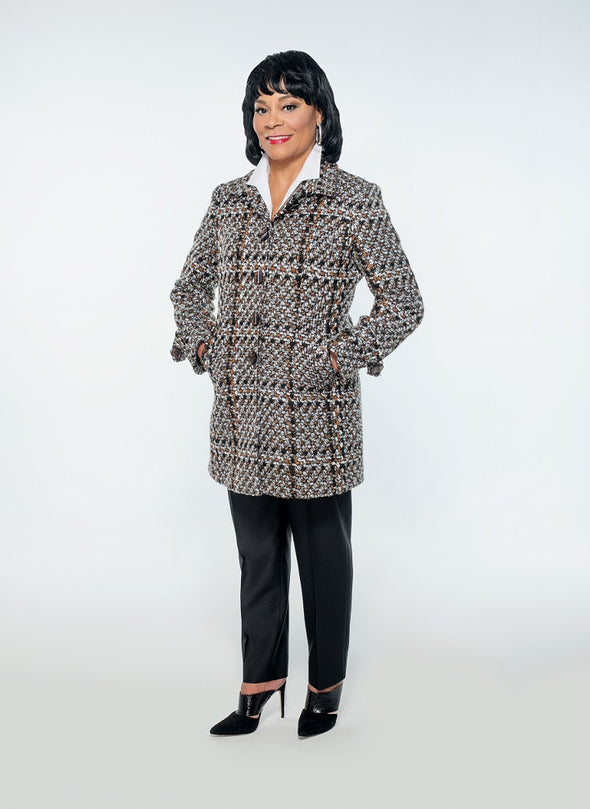 Melrose Beaded Wool Coat - Bryla J Couture