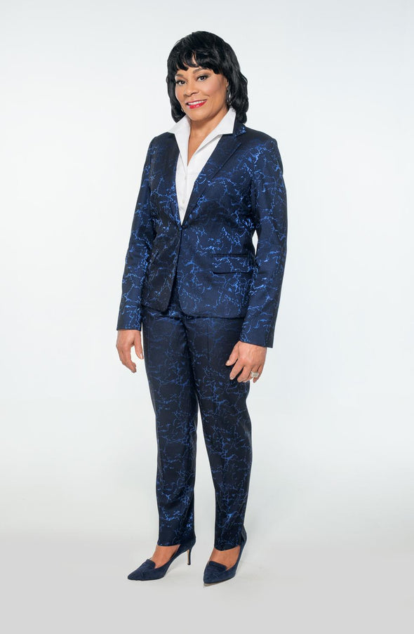 Lightning Strikes Blue Suit - Bryla J Couture