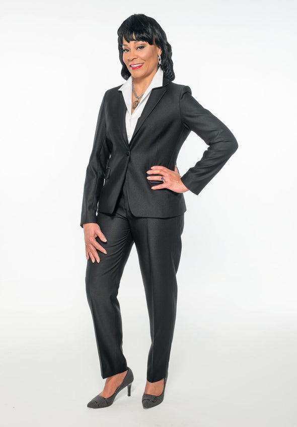 Ebony Charcoal Suit - Bryla J Couture