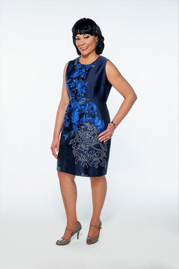 Jacqui-Bella Blue Dress - Bryla J Couture