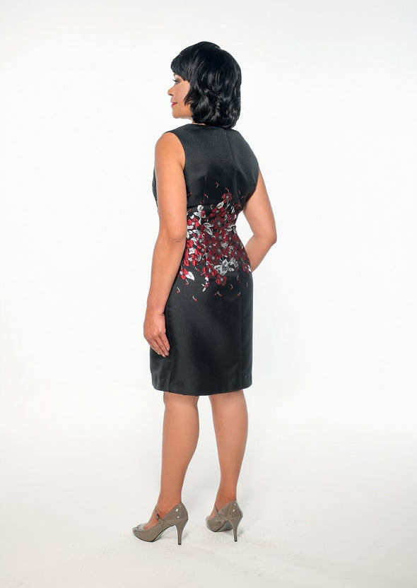 Rachael Black/Multi-Baroque Dress - Bryla J Couture