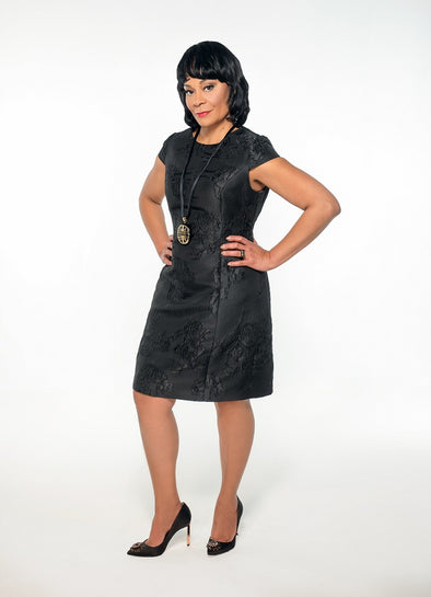 Mary Jacquard Dress - Bryla J Couture