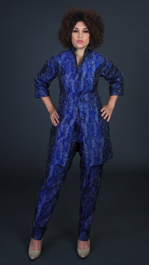 Etch Royal Blue Pants Suit