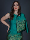 Impression Emerald Dress with Cropped Jacket