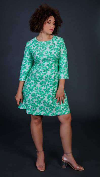 Retro Green Flare Dress