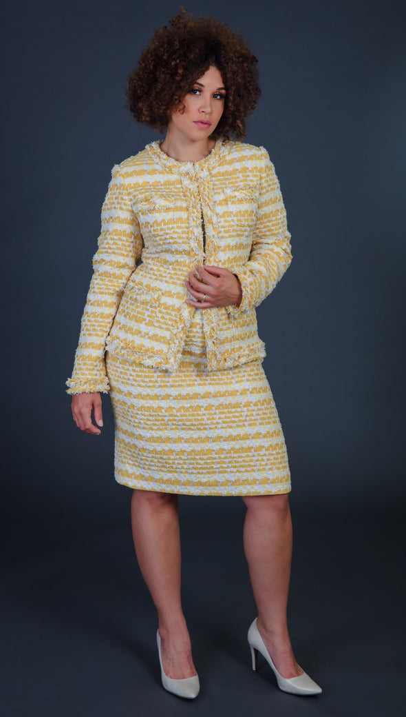 Yellow Rose Skirt Suit