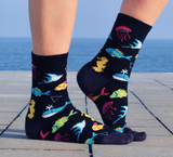 DS003 The Aquarium bamboo sock by Dark Soles Socks New Zealand