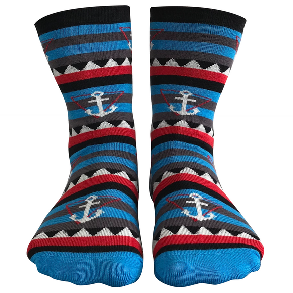Ahoy! bamboo sock by Dark Soles NZ socks