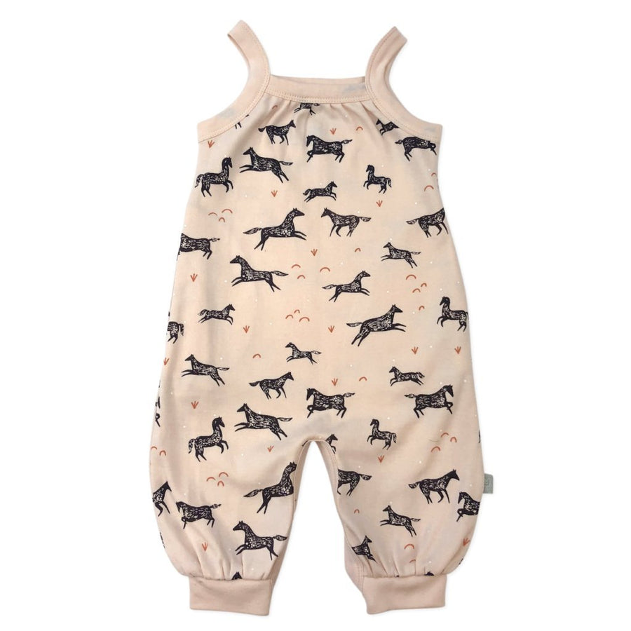 Naomi & Prints 100% Organic cotton baby girl wild horses jumpsuit