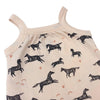 Naomi & Prints 100% Organic cotton baby girl wild horses footie