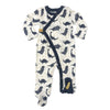 Naomi & Prints 100% organic cotton baby boy dino footie pajama