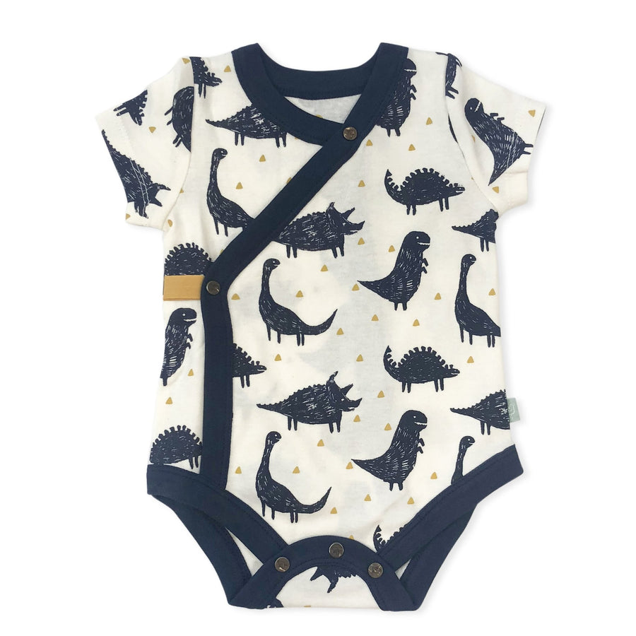 Naomi & Prints 100% organic cotton baby boy dino bodysuit