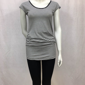 Gathered Tee - Cap Sleeve