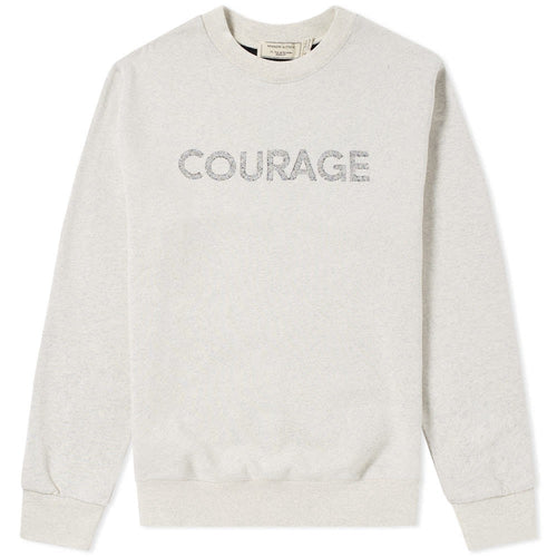 MAISON KITSUNÉ Courage Sweater - ECRU MELANGE - LAST PIECE
