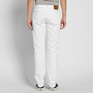 ALBAM Regular Fit Selvedge Jeans - WHITE
