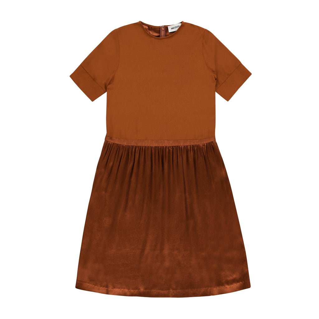 ANECDOTE Evelyn Dress - BRICK