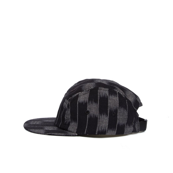 FOLK Five Panel Cap - BLACK ECRU FLARE