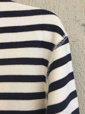 EARLYMADE Reversible Inside-Out Classic Sweatshirt — NAVY STRIPES