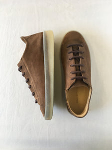 ORATE OFFICINE Pedro Leather Low-Top Trainer  -  BROWN (ON ICE)
