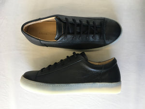 ORATE OFFICINE Ezequiel Leather Low-Top Trainer  -  BLACK (ON ICE)